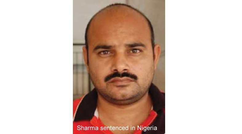 Sharma sentenced in Nigeria